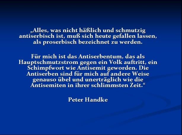 Peter Handke Antiserbentum